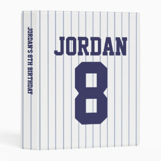 Baseball Jersey - Sports Theme Birthday Party Mini Binder