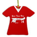 Baseball Jersey with Color Change Christmas Tree Ornaments