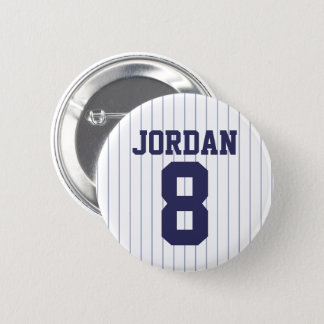 Baseball Jersey with Custom Name and Number Button