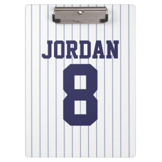 Baseball Jersey with Custom Name and Number Clipboard