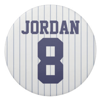 Baseball Jersey with Custom Name and Number Eraser