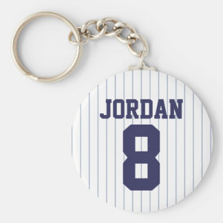 Baseball Jersey with Number Keychain