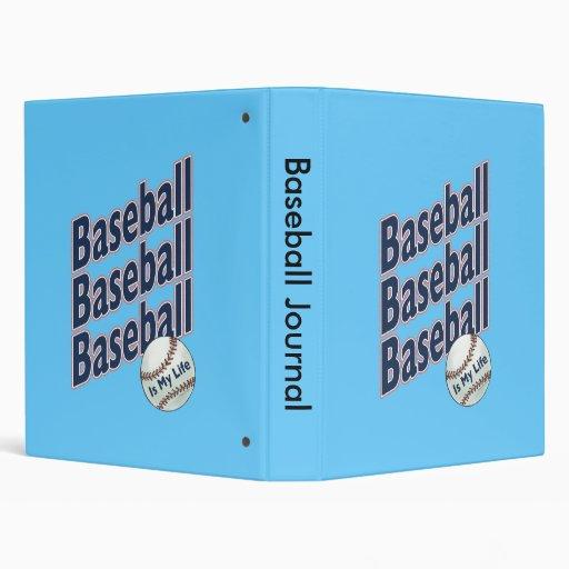 Baseball Journal 3 Ring Binder