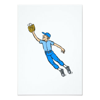 Baseball Jump for Catch Card