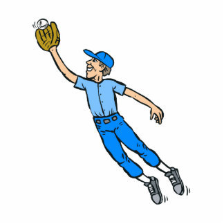 Baseball Jump for Catch Statuette