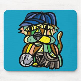 Baseball Kat BuddaKats Mousepad