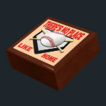 "Baseball Keepsake Jewelry Gift Box<br><div class=""desc"">Keepsake jewelry and trinkets gift box featuring There&#39;s No Place Like Home baseball design.</div>"