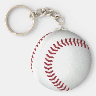 Baseball Basic Round Button Keychain