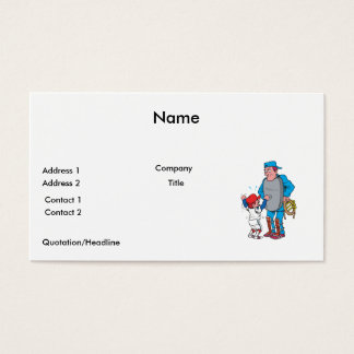 baseball kid arguing with the umpire business card