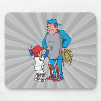 baseball kid arguing with the umpire mouse pad