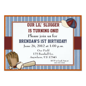Baseball Kids Birthday Invitation 5