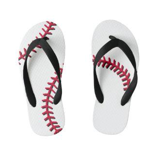 Baseball Kid's Flip Flops