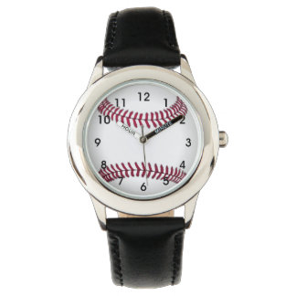 Baseball Kids Stainless Steel Watch