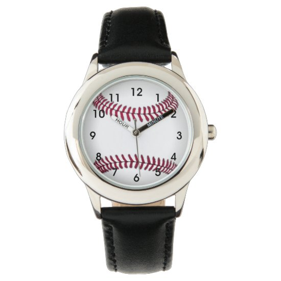 Baseball Kids Stainless Steel Watch