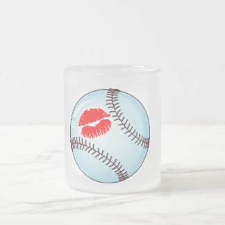 Baseball (Kiss) Frosted Glass Coffee Mug
