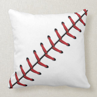 Baseball Lace Background 2 Throw Pillow