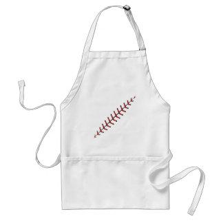 Baseball Lace Background 3 Adult Apron