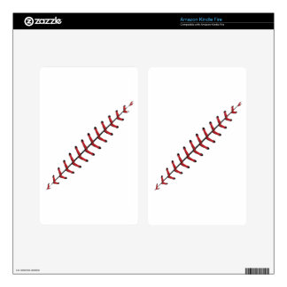 Baseball Lace Background 3 Decals For Kindle Fire