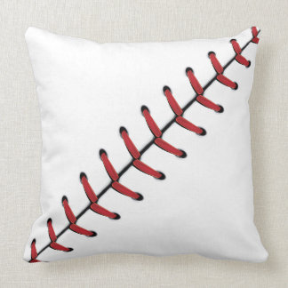 Baseball Lace Background 3 Throw Pillow