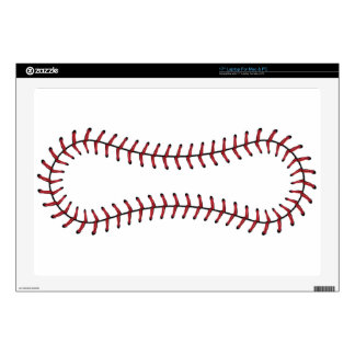 Baseball Lace Background 6 Laptop Skins