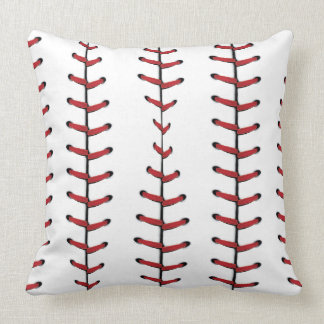 Baseball Lace Background Throw Pillow