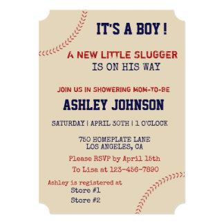 Baseball Laces Baby Shower Invitation