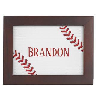 Baseball Laces Bases Ball Red White Game Name Memory Box