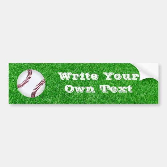 Baseball - Lawn Bumper Sticker