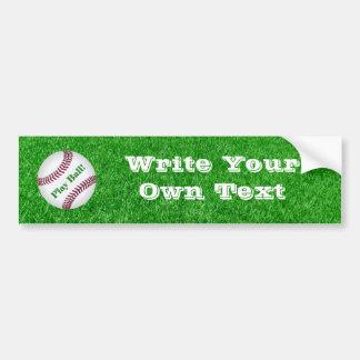 Baseball - Lawn - Play Ball! Bumper Sticker