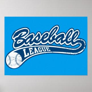 Baseball League Poster