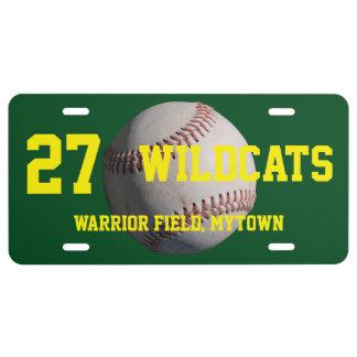 Baseball License Plate