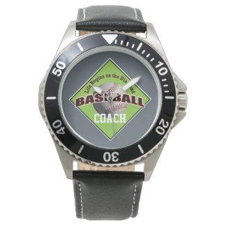 Baseball Life on the Diamond with Name Text Watch
