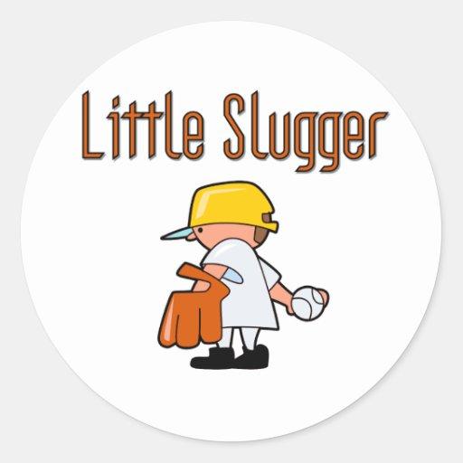 Baseball Little Slugger T-shirts and Gifts Classic Round Sticker