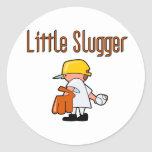 Baseball Little Slugger T-shirts and Gifts Round Stickers