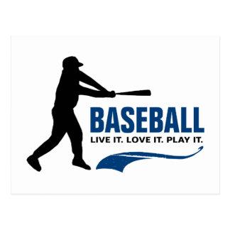 Baseball: Live It. Love It. Play It. Postcard