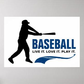 Baseball: Live It. Love It. Play It. Poster
