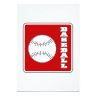 Baseball Logo 5x7 Paper Invitation Card