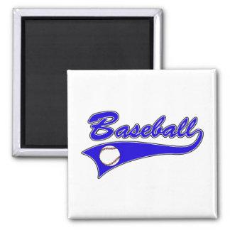 Baseball Logo Blue Magnet