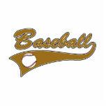 Baseball Logo Brown Photo Cut Outs