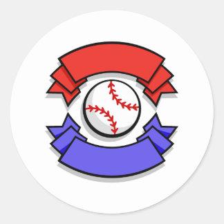 Baseball Logo Classic Round Sticker