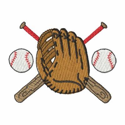 Baseball Logo Embroidered Polo Shirt
