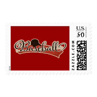 BASEBALL LOGO GRAPHICS RED BLACK NEUTRAL COLORS TE POSTAGE