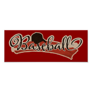 BASEBALL LOGO GRAPHICS RED BLACK NEUTRAL COLORS TE POSTER