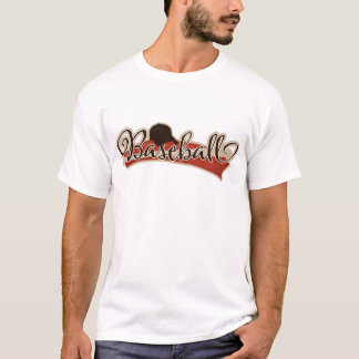 BASEBALL LOGO GRAPHICS RED BLACK NEUTRAL COLORS TE T-Shirt
