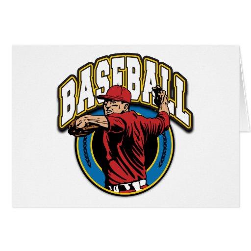 Baseball Logo Greeting Card