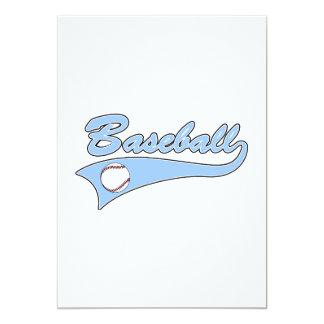 Baseball Logo Light Blue Card
