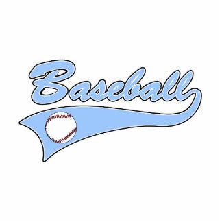 Baseball Logo Light Blue Cutout