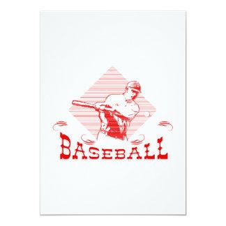 Baseball Logo Man 5x7 Paper Invitation Card