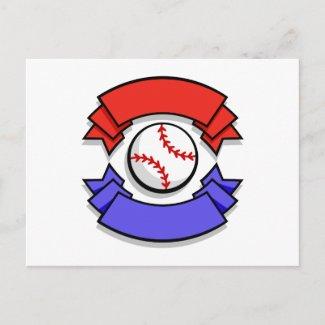 Baseball Logo postcard