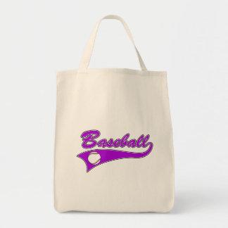 Baseball Logo Purple Tote Bag